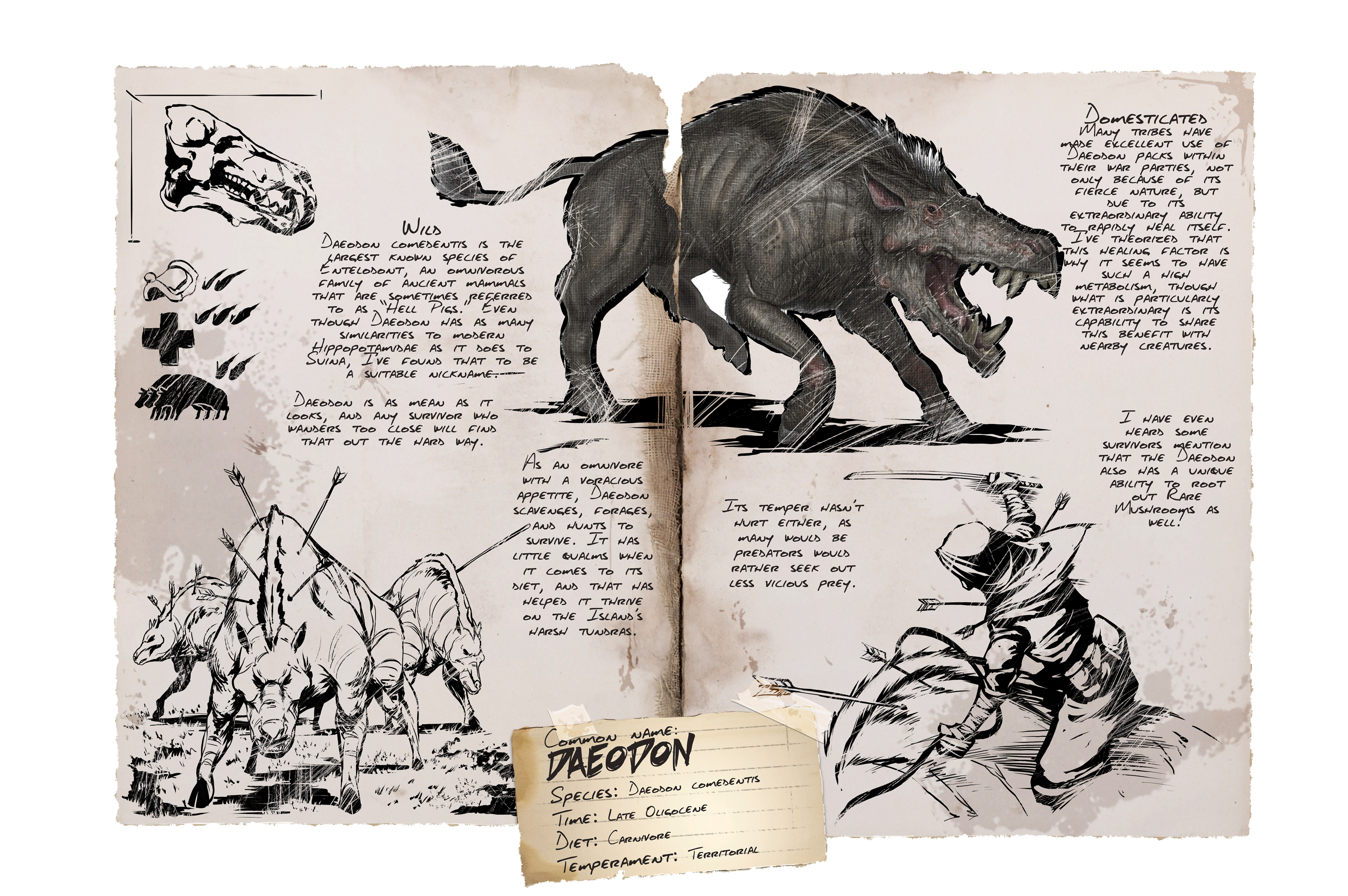 Daeodon (Höllenschwein) - Wiki - Ark Survival Evolved Forum