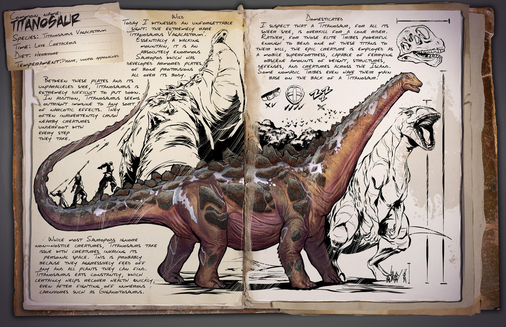 ark titanosaurus zähmen