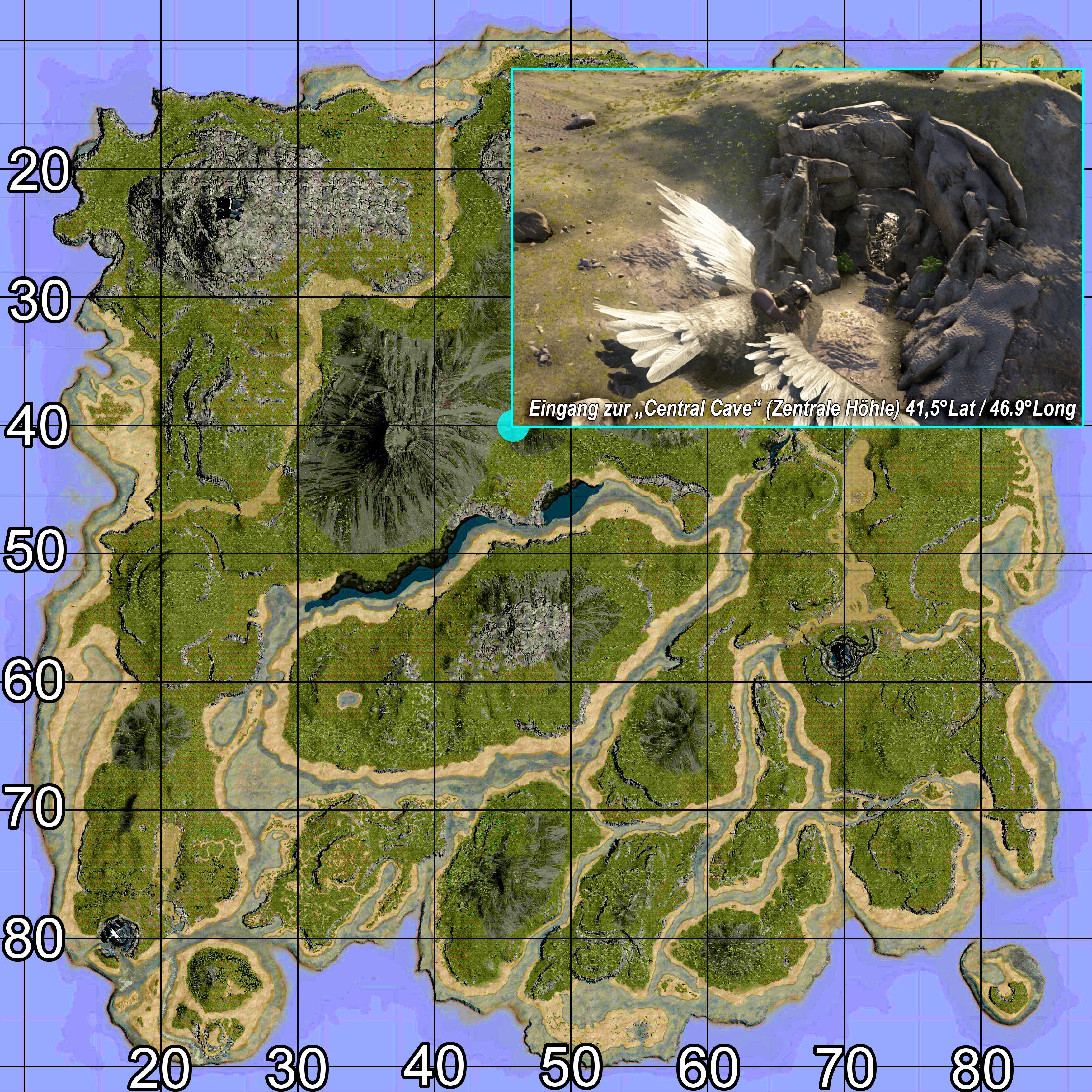 Ark Karte The Island.Die Höhlen In Ark The Island Map Tutorials Howto Ark