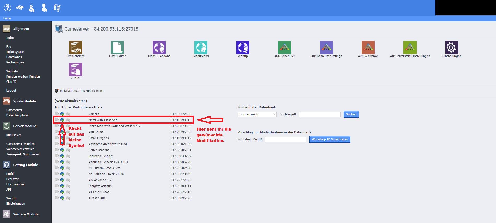 Einstellen prägung nitrado ark server Ark Dino