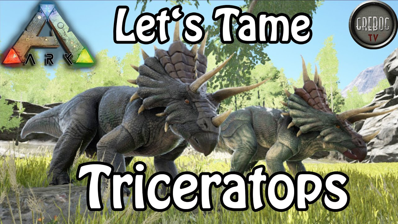 Ark: Survival Evolved - Let's Tame Triceratops (deutsch)