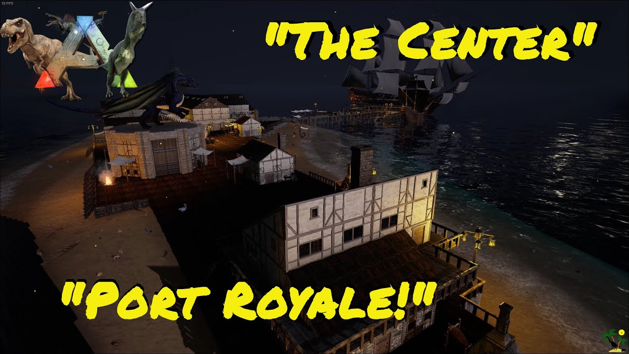"ARK:Survival Evolved Let's build: ""Port Royale!"" wir testen: - Kronos' Trade Center v1.20 -"