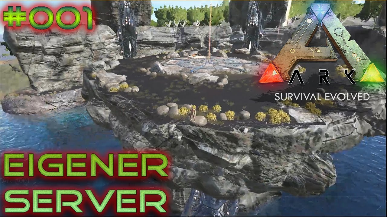 ARK Survival Evolved, unser erster server  - Let's Play #001 German Deutsch 2017