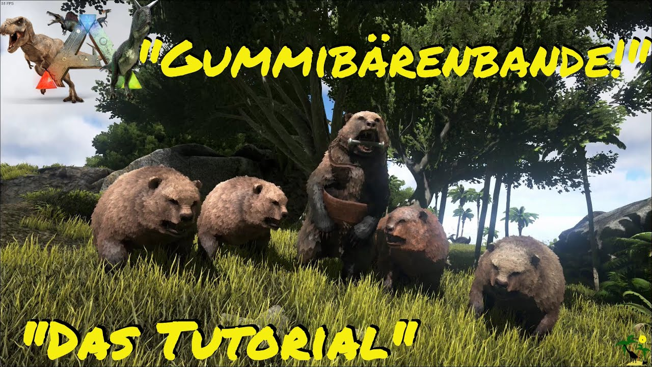 ARK:Survival Evolved Dire Bear! So klappt es mit der Gummibärenbande - ein Tutorial -