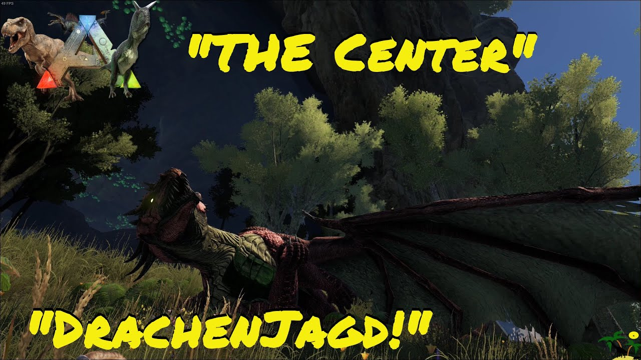 ARK:Survival Evolved Let's Mod! Dirahs Modparadies EP. 3 The Center Drachenjagd!
