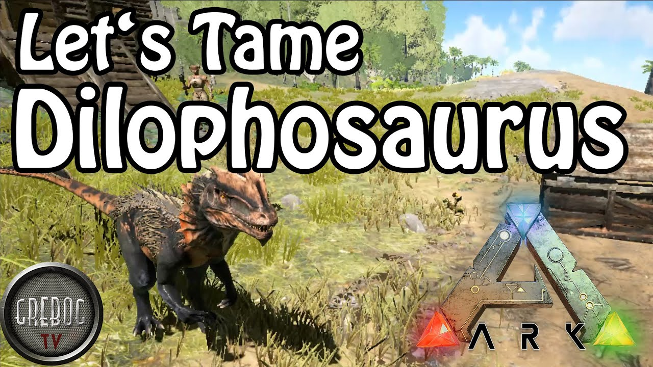 Ark: Survival Evolved - Let's Tame a Dilophosaurus (deutsch)