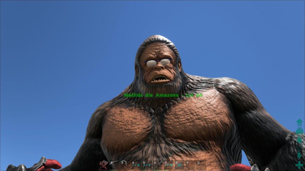 ARK Survival Evolved Gigantopithecus! Affen zähmen und benutzen ein Tutorial