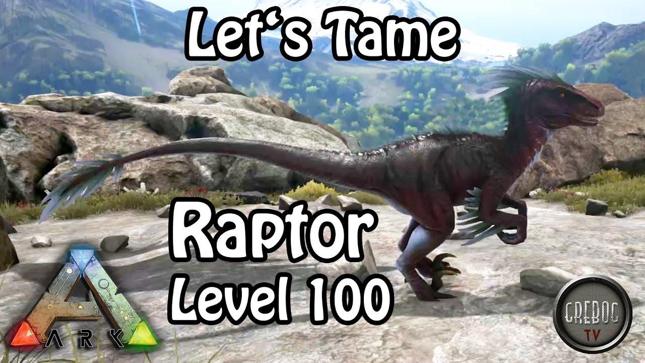 Ark: Survival Evolved - Let's Tame: Raptor Level 100 (deutsch)