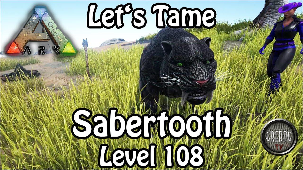 Ark: Survival Evolved - Folge 42: Let's Tame: Sabertooth Level 108 (deutsch)