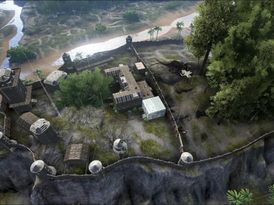 Burg Weissenfels aus der Vogelperspektive