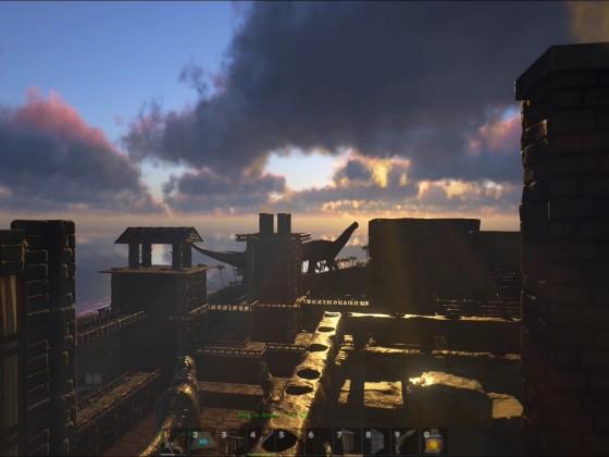 Sonnenaufgang im Industriekomplex
