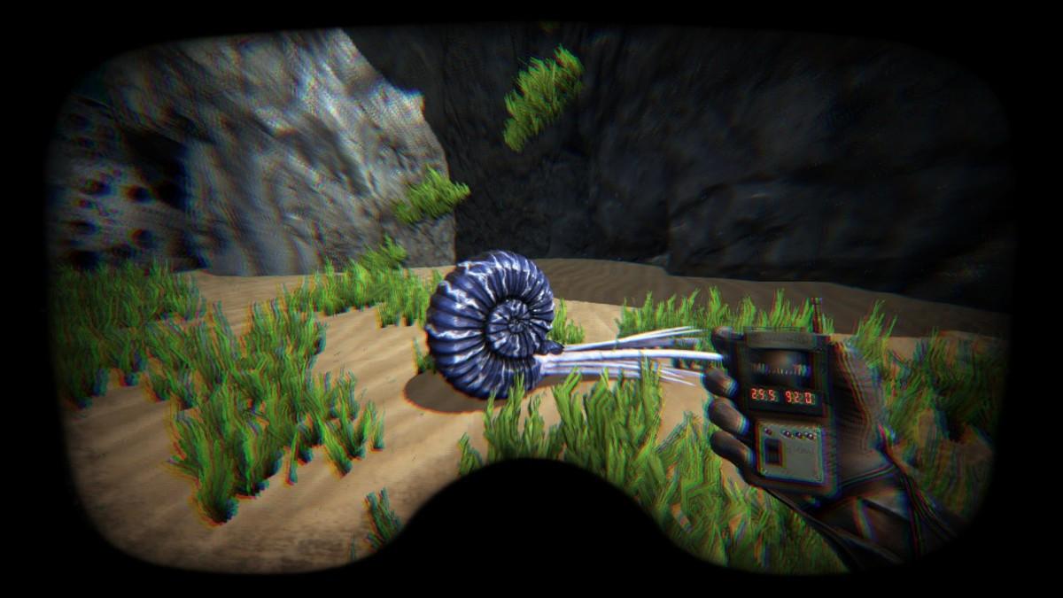 Der Ammonit mit GPS Daten 25.5 / 92.0