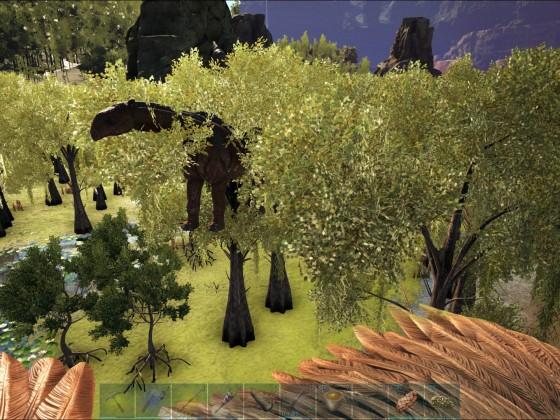 Paracer kann auch auf Bäume klettern