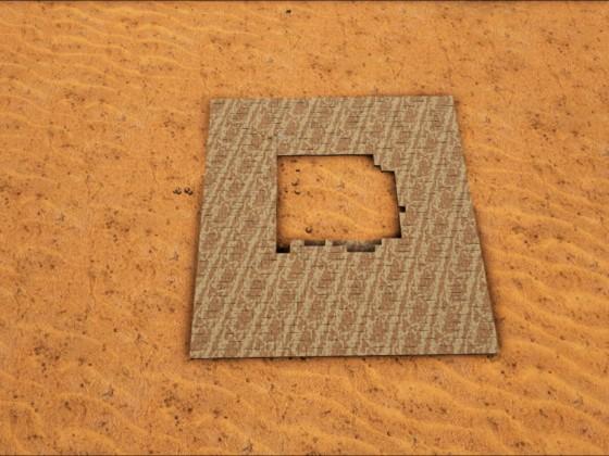 Nachbau der Pyramide von Abydos (Stargate)