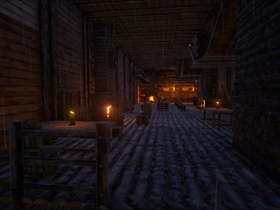 Der Obere Schankraum bei Kerzenschein und Kaminlicht