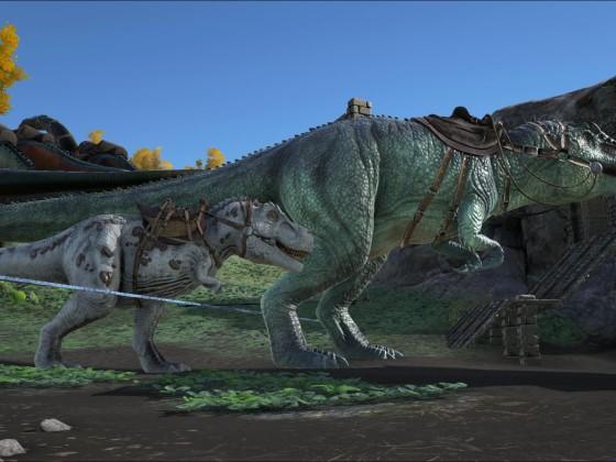 Größenverhältnis Rex / Giganto