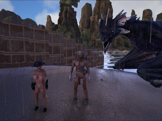 Nackt macht ARK am meisten Spaß.