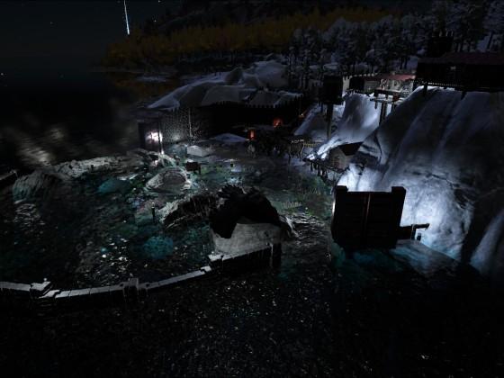 Nord Dorf Nachts