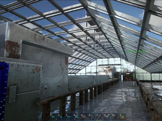 Überdach von innen