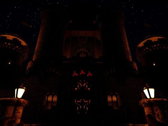 Bei Nacht erwacht die Dunkelheit im Schloss