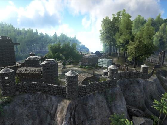 Panoramabild von Burg Weissenfels