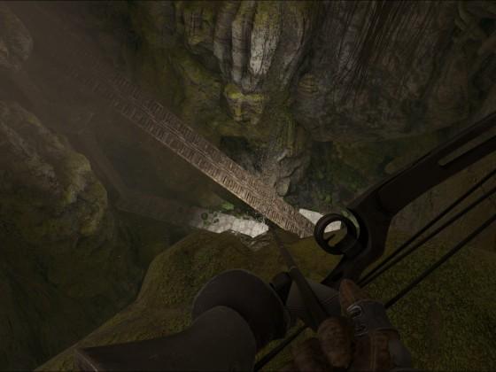 Der Versuch einen Megalosaurus aus der oberen südlichen Höhle rauszubekommen