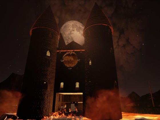 Burg im Krater! @TheCenter