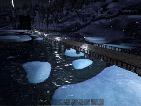 Brücke mit Geländer