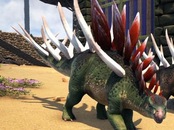 Kentrosaurus Mädchen